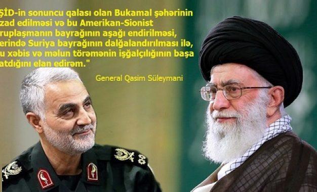İŞİD-in sonu… Ordu generalı Süleymaninin İnqilab Rəhbərinə bu barədə raportu