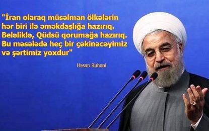 """Həsən Ruhani: """"Qüdsü qorumağa hazırıq…"""""""