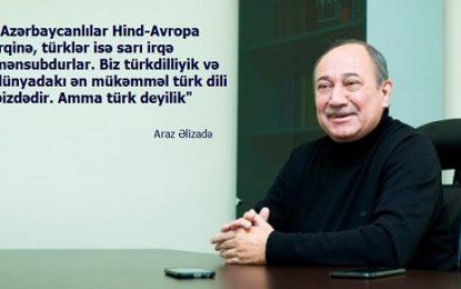 """Araz Əlizadə: """"Babək də, Şah İsmayıl da, Rəsulzadə də türk deyil…"""""""