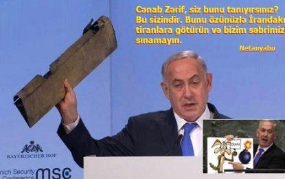 Netanyahu əlindəki dəmir parçası ilə İranı təhdid etdi və yenidən dünyanı özünə güldürdü – Foto