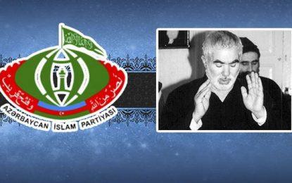 AİP Hacı Əlikram Əliyevin il dönümü ilə bağlı başsağlığı verdi