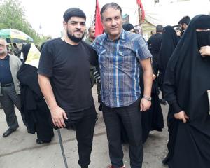 Azərbaycanlı zəvvar bir ayağı ilə Ərbəin ziyarətinə piyada gedib +Foto