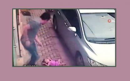 İki yaşlı uşaq 3-cü mərtəbənin balkonundan düşsədə heçnə olmadı – VİDEO