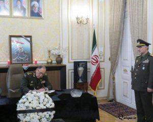 Müdafiə nazirinin müavini İran səfirliyinə gedib –Süleymani ilə bağlı xatirə kitabını imzalayıb