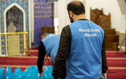 Məşədi Dadaş məscidinin dini icması ehtiyaclı ailələrə ərzaq payladı