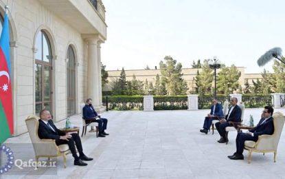 """İlham Əliyev """"İranla Azərbaycan Respublikası arasında əlaqələrin inkişafını vurğulayır"""""""