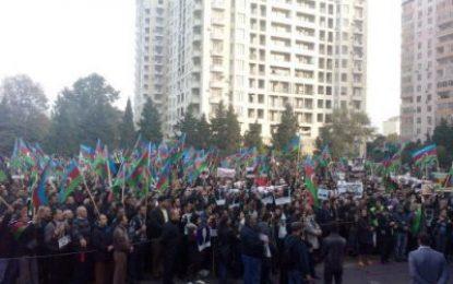 مخالفت با درخواست شورای ملی برای برگزاری تجمعات در باکو
