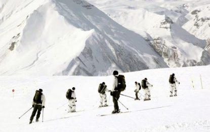نیروهای نظامی جمهوری آذربایجان در تمرینات  نظامی زمستانی گرجستان
