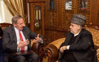 دیدار رییس اداره مسلمانان قفقاز با سفیر آمریکا در باکو