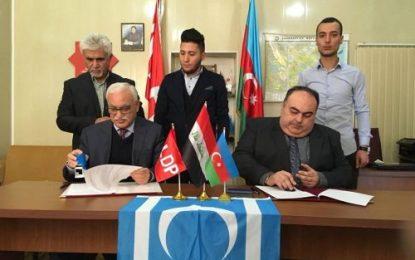 سفر رهبر حزب ترکمان عراق به جمهوری آذربایجان