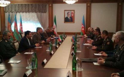 دیدار وزیران دفاع ایران و جمهوری آذربایجان در باکو