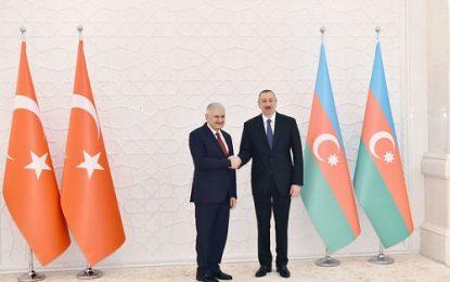 دیدار نخست وزیر ترکیه با رئیس جمهوری آذربایجان در باکو