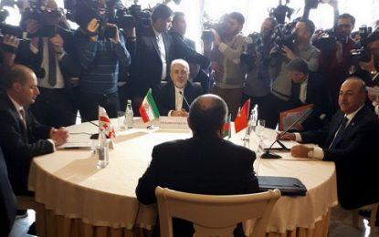 نشست چهارجانبه وزیران امور خارجه ایران، ترکیه،آذربایجان و گرجستان برگزار شد