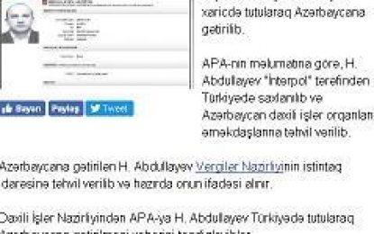 به اتهام فرار مالیاتی؛ ترکیه نماینده پیشین مجلس جمهوری آذربایجان را دستگیر کرد و به باکو تحویل داد