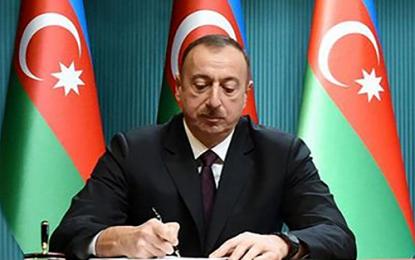 الهام علی اف یاداشت تفاهم میان ایران و جمهوری آذربایجان در زمینه همکاری در دریای خزر را امضاء کرد