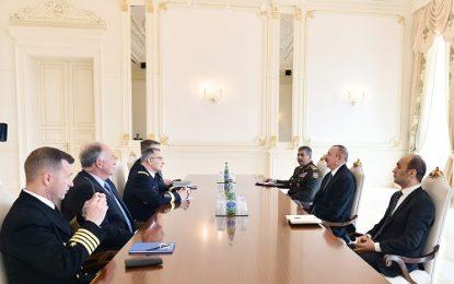 دیدار جداگانه رییس جمهوری آذربایجان با رییس ستاد مشترک نیروهای مسلح روسیه و فرمانده کل نیروهای ناتو در اروپا
