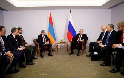پوتین در دیدار با نخست وزیر ارمنستان:ایروان نزدیک ترین شریک و متحد روسیه در منطقه است