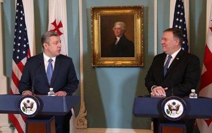نخست وزیر گرجستان در دیدار با پمپئو : همکاری گرجستان و آمریکا عامل امنیت در منطقه دریای سیاه است