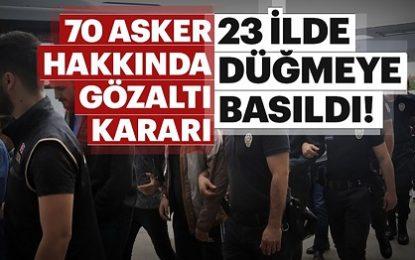 قرار بازداشت ۷۰ نظامی نیروهای مسلح ترکیه صادر شد