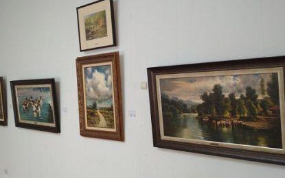 آثار نقاشی « ودود موذن زاده اردبیلی » در موزه باکو به نمایش درآمد