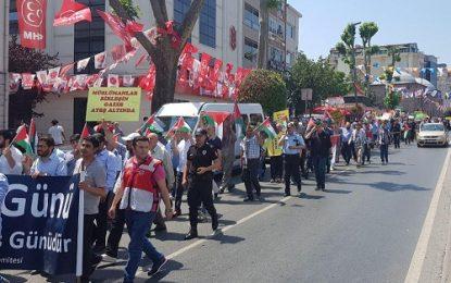 راهپیمایی روز قدس در شهر استانبول برگزار شد
