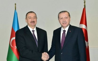 """الهام علی اف انتخاب مجدد اردوغان به ریاست """"حزب عدالت و توسعه"""" را تبریک گفت"""