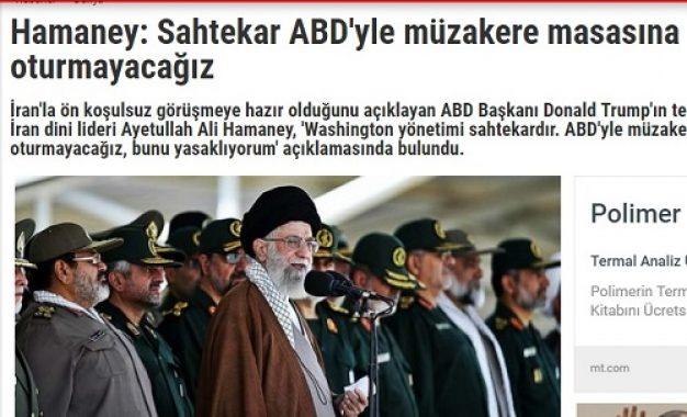 رسانه های ترکیه: رهبر ایران آمریکا را متقلب خواند