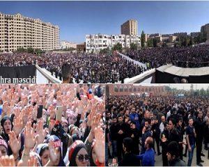 فیلم اجتماعات گسترده شیعیان جمهوری آذربایجان
