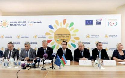 با حضور مسئولان دفتر نمایندگی اتحادیه اروپا در آذربایجان، روزهای اروپا در نخجوان برگزار شد