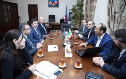 دیدار رییس دانشگاه علوم پزشکی اردبیل با رییس دانشگاه پزشکی جمهوری آذربایجان در باکو
