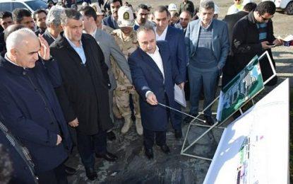 بازدید وزیر راه وشهرسازی ایران و وزیر اقتصاد آذربایجان از بارانداز راه آهن آستارا