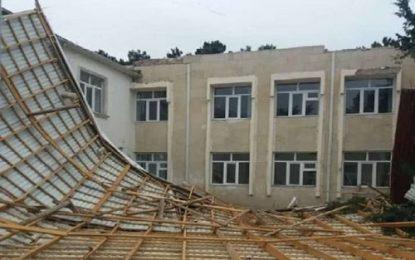 طوفان شدید در باکو /تصاویر