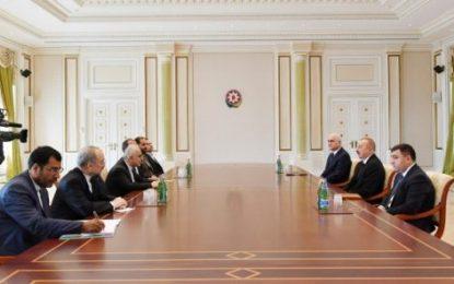 دیدار وزیر امور اقتصاد و دارایی با رییس جمهوری آذربایجان