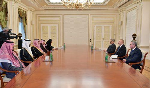 دیدار رییس سازمان سرمایه گذاری عربستان سعودی با الهام علی اف