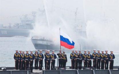 تمرینات نظامی-دریایی مشترک روسیه و ترکیه در دریای سیاه