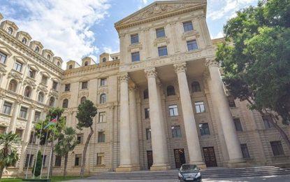 بیانیه وزارت خارجه جمهوری آذربایجان در پی برگزاری اجلاس شورای امنیت ارمنستان در خانکندی