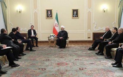 روحانی در دیدار با وزیر خارجه جمهوری آذربایجان: پروژه راهآهن رشت – آستارا گامی مهم در تامین منافع دو ملت است