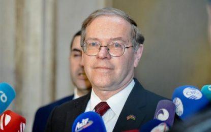 سفیر آمریکا در باکو: واشنگتن خواهان ادامه مذاکره با طرف های درگیر مناقشه قره باغ است