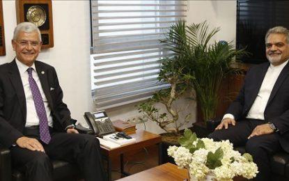 دیدار رئیس کمیسیون سیاست خارجی مجلس ترکیه با سفیر ایران در آنکارا