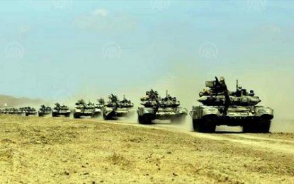 برگزاری رزمایش نظامی از سوی نیروهای مسلح جمهوری آذربایجان