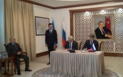 امضا یادداشت تفاهم همکاری در بخش ترانزیت میان جمهوری آذربایجان و روسیه