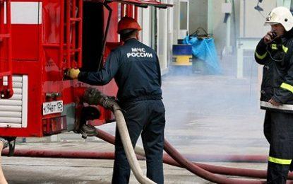 انفجار و آتش سوزی در یک نفتکش روسی در بندر مخاچ قلعه