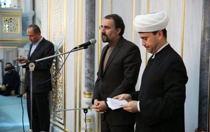 بزرگداشت روز جهانی قدس در مسجد جامع مسکو