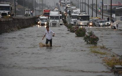 وقوع سیلاب در استان ترابزون ترکیه ۱۰ قربانی گرفت
