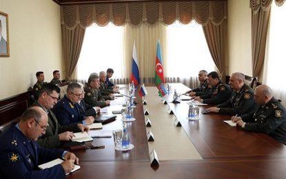 نشست هئیت نظامی روسیه و جمهوری آذربایجان درباره مناقشه قره باغ