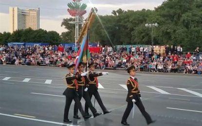 رژه نظامیان جمهوری آذربایجان در بلاروس