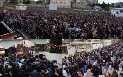 عزاداری مردم جمهوری آذربایجان در روز عاشورا / فیلم