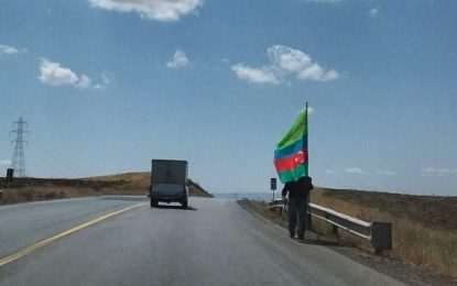 پیاده روی شهروند جمهوری آذربایجان تا کربلا