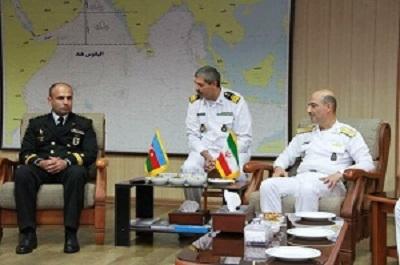 حضور فرمانده نیروی دریایی جمهوری آذربایجان در منطقه یکم نیروی دریایی ارتش در بندر عباس