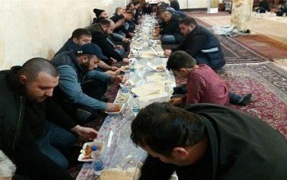 پذیرایی و تکریم زائران اربعین حوزه قفقاز در دو امام زاده استان اردبیل